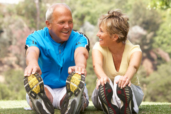 COPD couple exercising