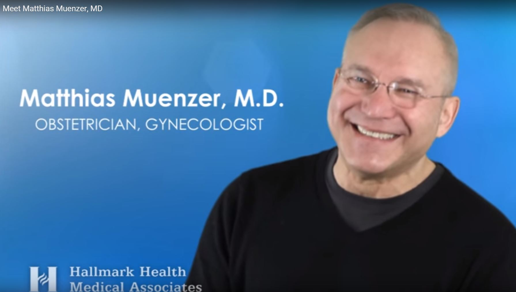 Dr. Muenzer talks about his practice